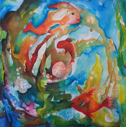 "Happy Fishes - aus der Serie \""Oceanic Dance\"" Rani B"