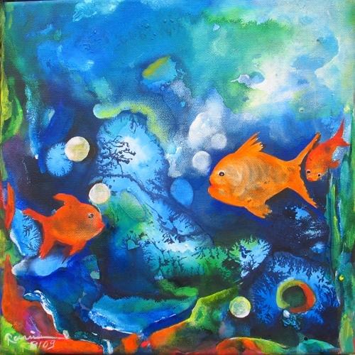 """Fisch d - aus der Serie \""""Oceanic Dance\"""" Rani B"""